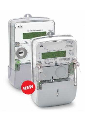 NІК2104 AP2T 1802.MC.11 220В 5 (60) А, електролічильник однофазний багатотарифний - 4 тарифа, PLC-модуль, реле відключення споживача,  індикація впливу магнітного та радіо полів (2104-AP2T-1802.MC.11) Лічильники електричної енергії - інтернет - магазині М