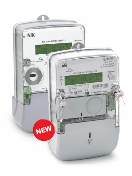 NІК2104 AP2T 1802.MC.11 220В 5(60)А, электросчетчик однофазный многотарифный - 4тарифа, PLC-модуль, реле отключения потребителя, ЖКИ, индикация воздействия магнитного и радио полей