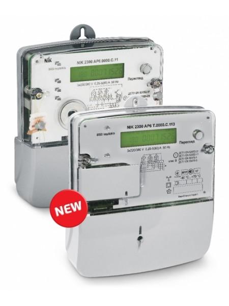 NIK2300 AP6.0000.0.11 3х220/380В 5(80)А ЖКИ, электросчетчик трехфазный электронный шунтовой