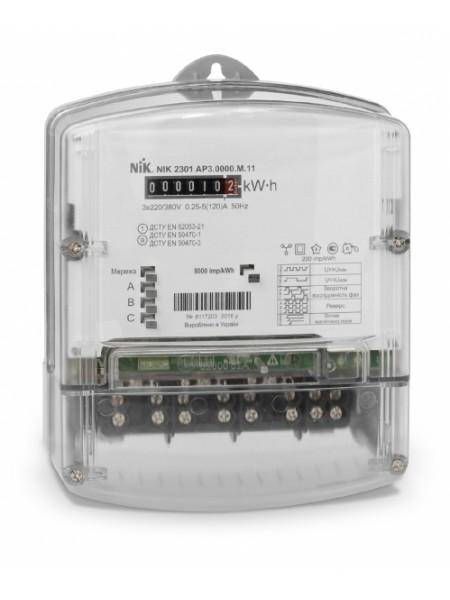 NIK2301 AP2.0000.0.11 3х220/380В 5(60)А электросчетчик трехфазный электромеханический