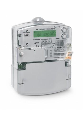 NIK2303 ARТ.1000.M.11 5 (10) А 3х220 / 380В електролічильник трифазний електронний активної і реактивної енергії, нетарифний, оптичний порт, трансформаторного підключення, індикація впливу магнітного поля (2303-ARТ.1000.M.11) Лічильники електричної енергі