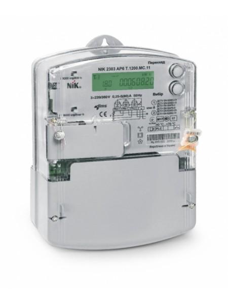 NIK2303 AP3Т.1000.M.11 5(120)А электросчетчик трехфазный электронный многотарифный, оптический порт, индикация воздействия магнитного поля