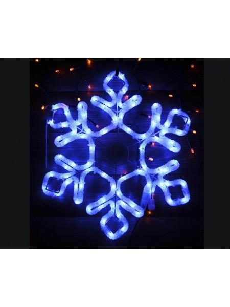 Світлодіодне прикраса Мотив Сніжинка Lumion 60,5х52 см зовнішній колір синій (762267458) Гірлянди - інтернет - магазині Моя Лампа ™