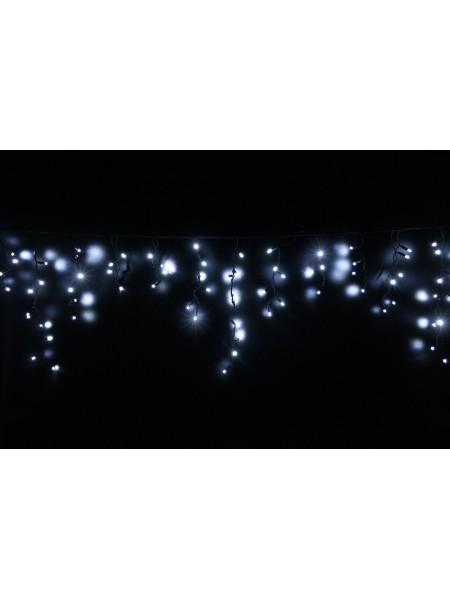Гірлянда вулична LUMION бахрома 90LED 230V 2x0,5m колір білий холодний / чорний, мерехтить 9LED IP44 EN (762267435) Гірлянди - інтернет - магазині Моя Лампа ™