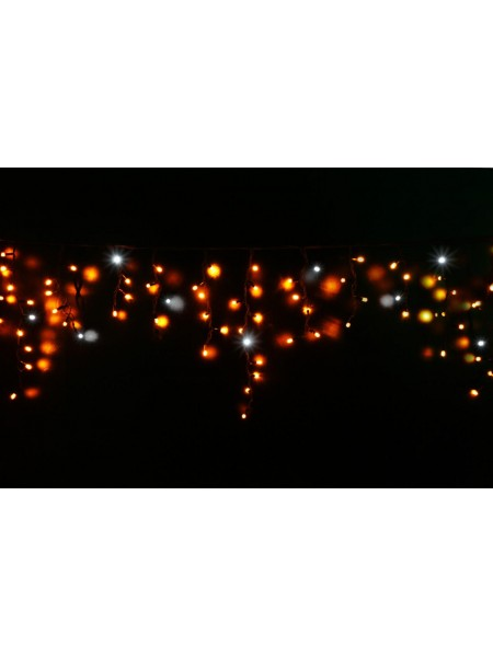 Гірлянда вулична LUMION бахрома 90LED 2x0,5m 230Vцвет жовтий, мерехтить 9LED IP44 EN (1042138413) Гірлянди - інтернет - магазині Моя Лампа ™