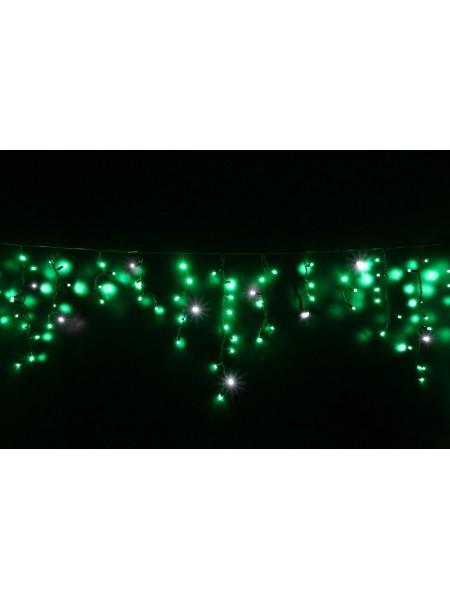 Гірлянда вулична LUMION бахрома 90LED 2x0,5m 230Vцвет зелений, мерехтить 9LED IP44 EN (1042141656) Гірлянди - інтернет - магазині Моя Лампа ™