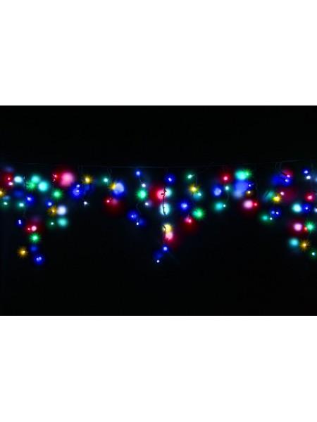 Гірлянда вулична LUMION бахрома 90LED 2x0,5m 230V колір мульти, мерехтить вся IP44 EN (1042883979) Гірлянди - інтернет - магазині Моя Лампа ™