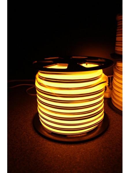 Вуличний світловий шнур Lumion 220V SUPER SMD NEON FLEX 8 * 16мм, 92 світлодіода / м.п., 50м / рул колір: жовтий (831766101) NEON FLEX/DURALIGHT. IP44. 230V - інтернет - магазині Моя Лампа ™