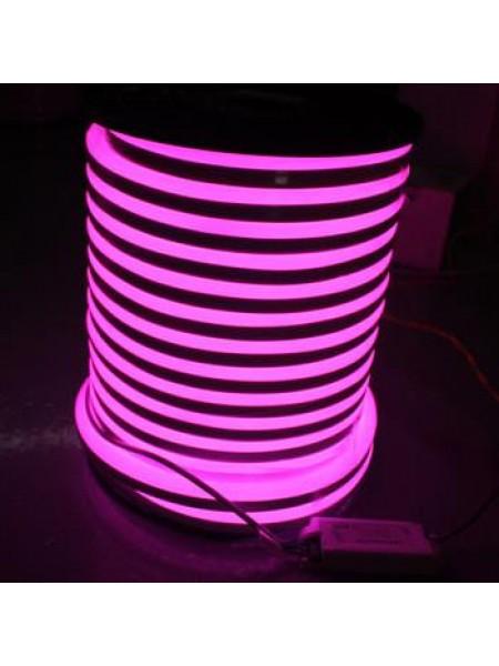 Вуличний світловий шнур Lumion 220V SUPER SMD NEON FLEX 8 * 16мм, 92 світлодіода / м.п., 50м / рул колір рожевий (1044345436) NEON FLEX/DURALIGHT. IP44. 230V - інтернет - магазині Моя Лампа ™