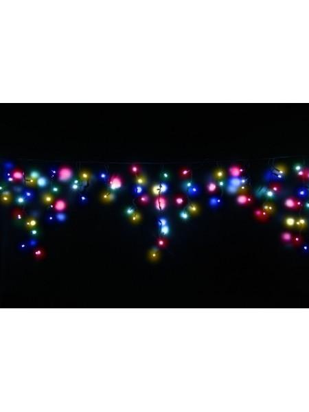 Гірлянда вулична LUMION бахрома 90LED 2x0,5m 230V колір мульти з мерехтінням 9LED IP44 EN (1058851619) Гірлянди - інтернет - магазині Моя Лампа ™