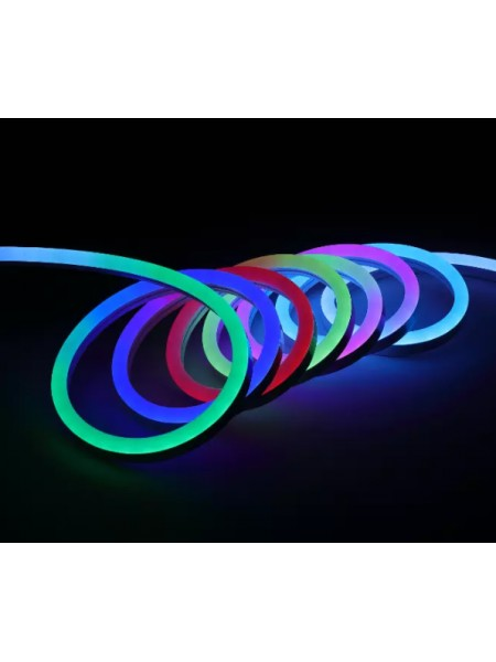 Вуличний світлодіодний шнур Неон-Флекс Lumion Neon-Flex 8х16 мм 92 LED / м.п. зовнішній колір RGB (831776641) NEON FLEX/DURALIGHT. IP44. 230V - інтернет - магазині Моя Лампа ™