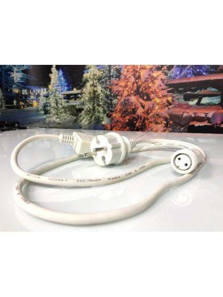 Силовой кабель с конечным соединением AC/DC режим работы гирлянды статика (1210705863) Гирлянды - интернет - магазин Моя Лампа ™
