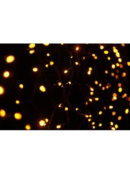 Уличная светодиодная гирлянда Штора Lumion 456 led цвет желтый длина 2м. высота 1,5м IP44, 230V без каб пит