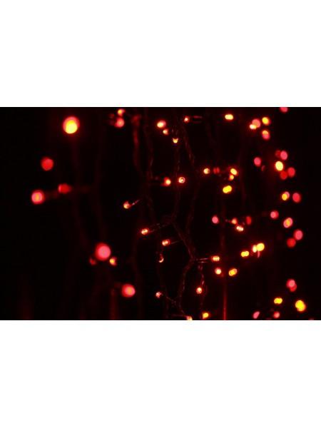 Гирлянда уличная LUMION штора 456LED 2x1,5m 230V цвет красный/черный IP44 EN