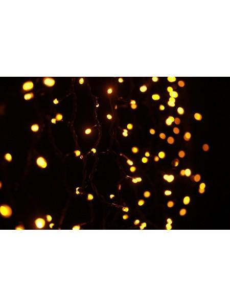 Гирлянда уличная LUMION штора 912LED 2x3m 230V цвет желтый/черный IP44 EN