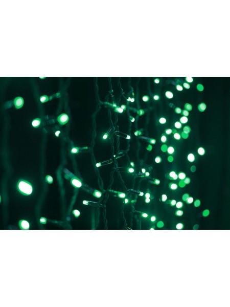 Уличная светодиодная гирлянда Штора Lumion 912 led цвет зеленый длина 2м. высота 3м IP44, 230V без каб пит
