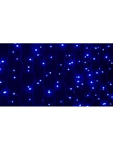 Гирлянда уличная LUMION штора 456LED 2x1,5m 230V цвет синий/черный IP44 EN