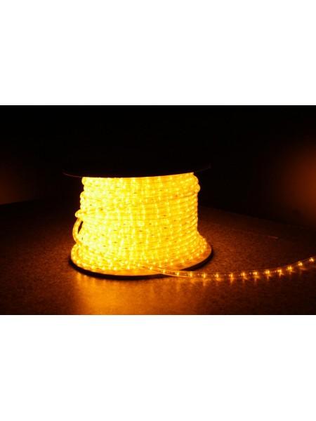 Уличная светодиодная лента Lumion Led Duralight 2-х жильная 240V. d=10мм. 2.77см 36диодив/м.100м/Цвет желтый