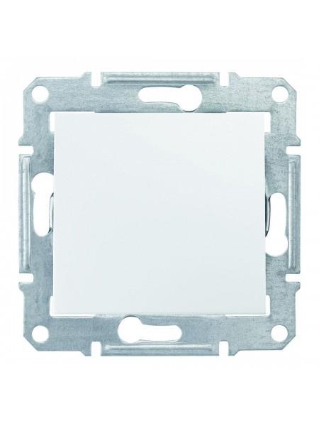 Одноклавишный кнопочный выключатель 10 AX  Sedna SDN0700121 белый (SDN0700121) Розетки и выключатели - интернет - магазин Моя Лампа ™