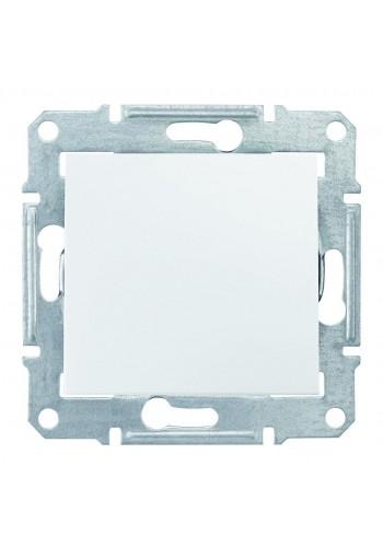 Двухполюсный одноклавишный выключатель 10 AX  Sedna SDN0200121 белый (SDN0200121) Розетки и выключатели - интернет - магазин Моя Лампа ™