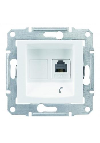 Телефонная розетка RJ11, с пружинными зажимами  Sedna SDN4101121 белый (SDN4101121) Розетки и выключатели - интернет - магазин Моя Лампа ™