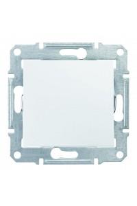 Одноклавишный перекрестный переключатель 10 AX  Sedna SDN0500121 белый (SDN0500121) Розетки и выключатели - интернет - магазин Моя Лампа ™