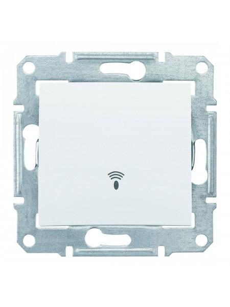 Одноклавишный кнопочный выключатель с символом «звонок» 10 A  Sedna SDN0800121 белый (SDN0800121) Розетки и выключатели - интернет - магазин Моя Лампа ™