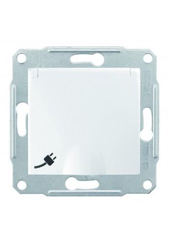 Розетка с заземлением 16 A - 250 В с защитными шторками и крышкой  Sedna SDN3100121 белый (SDN3100121) Розетки и выключатели - интернет - магазин Моя Лампа ™