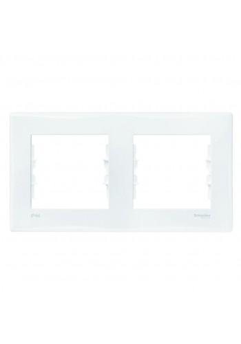 Рамка 2 постовая горизонтальная для выключателей или розеток IP44  Sedna SDN5810321 белый (SDN5810321) Розетки и выключатели - интернет - магазин Моя Лампа ™