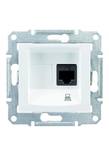 Компьютерная розетка RJ45, кат. 5e, экр. STP, с пружинными зажимами  Sedna SDN4500121 белый (SDN4500121) Розетки и выключатели - интернет - магазин Моя Лампа ™