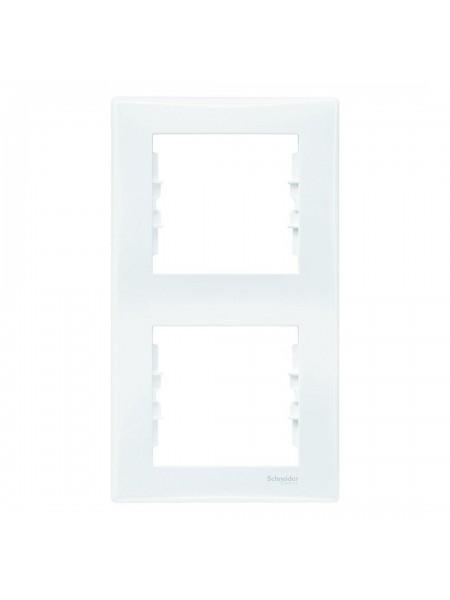 Рамка 2 постовая вертикальная  Sedna SDN5801121 белый (SDN5801121) Розетки и выключатели - интернет - магазин Моя Лампа ™