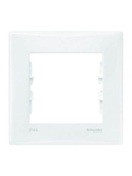 Рамка 1 постовая рамка для выключателей или розеток IP44  Sedna SDN5810121 белый (SDN5810121) Розетки и выключатели - интернет - магазин Моя Лампа ™