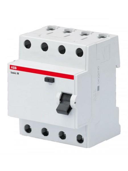 Дифференциальный выключатель (УЗО) BASIC M, 4Р 300мА 25А ТИП 'АС' BMF43425 (2CSF604043R3250) Автоматические выключатели - интернет - магазин Моя Лампа ™