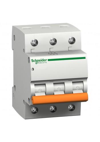 Автоматический выключатель 3P 63A (C) 4.5kA SE Домовой ВА63 11229 (11229) Автоматические выключатели - интернет - магазин Моя Лампа ™