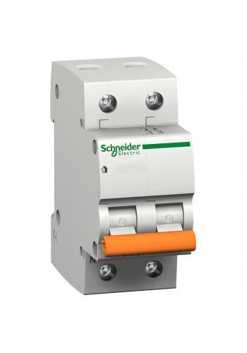 Автоматический выключатель 1P+N 6A (C) 4.5kA SE Домовой ВА63 11211 (11211) Автоматические выключатели - интернет - магазин Моя Лампа ™