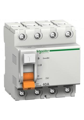 Дифференциальный выключатель (УЗО) 4P 40A 30mA SE Домовой ВД63 11463 (11463) Автоматические выключатели - интернет - магазин Моя Лампа ™