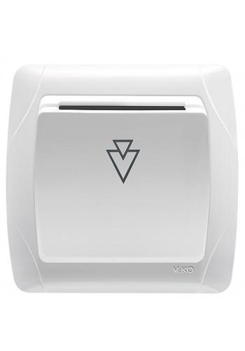 VI KO CARMEN БЕЛЫЙ Выключатель карточный стандартный без реле 90561051 (90561051) Розетки и выключатели - интернет - магазин Моя Лампа ™