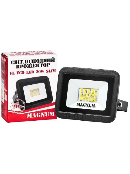 світлодіодний прожектор MAGNUM FL ECO LED 20Вт slim_6500К_IP65 - (90011659) (90011659) LED Прожектори - інтернет - магазині Моя Лампа ™