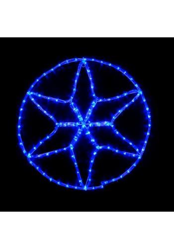 гірлянда зовн DELUX MOTIF Star 6 кін. 60 * 60см 13 flash синій IP44 - (90012984) (90012984) Гірлянди - інтернет - магазині Моя Лампа ™
