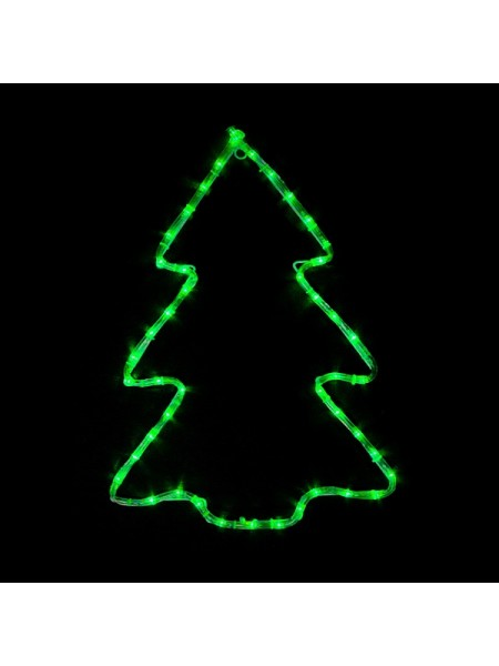 гирлянда внеш DELUX  MOTIF Christmas tree 60*45см 7 flash зелен. IP44 - (90012986) (90012986) Гирлянды - интернет - магазин Моя Лампа ™