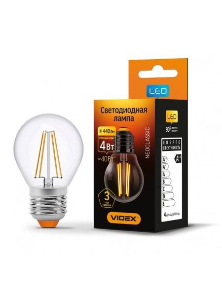 LED лампа VIDEX Fіlament G45F 4W E27 4100K 220V (VL-G45F-04273) Світодіодні лампи - інтернет - магазині Моя Лампа ™