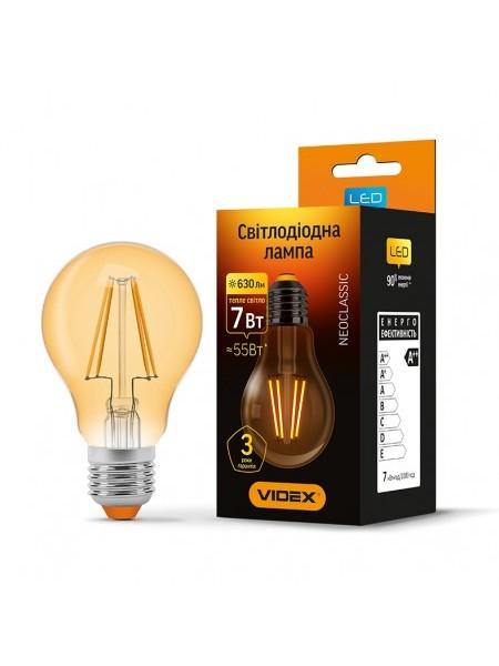 LED лампа VIDEX Fіlament A60FA 7W E27 2200K 220V бронза (VL-A60FA-07272) Світодіодні лампи - інтернет - магазині Моя Лампа ™
