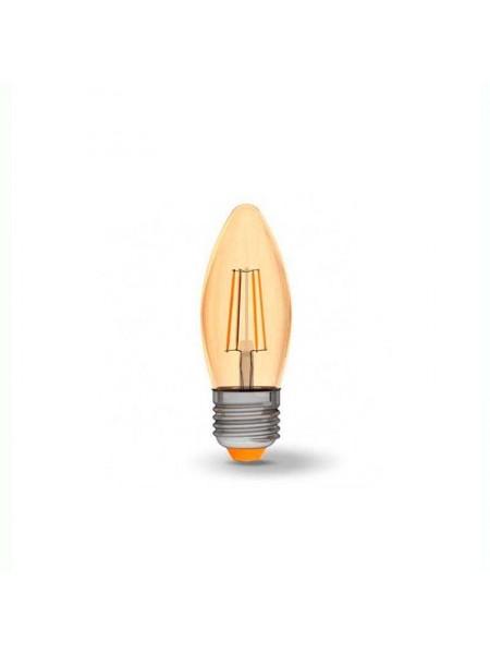 LED лампа VIDEX Fіlament С37FА 4W E27 2200K 220V бронза (VL-C37FA-04272) Світодіодні лампи - інтернет - магазині Моя Лампа ™