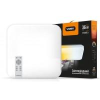 LED світильник VIDEX функціональний квадратний 36W 2800-6000K 220V IP20 VL-CLSS-36