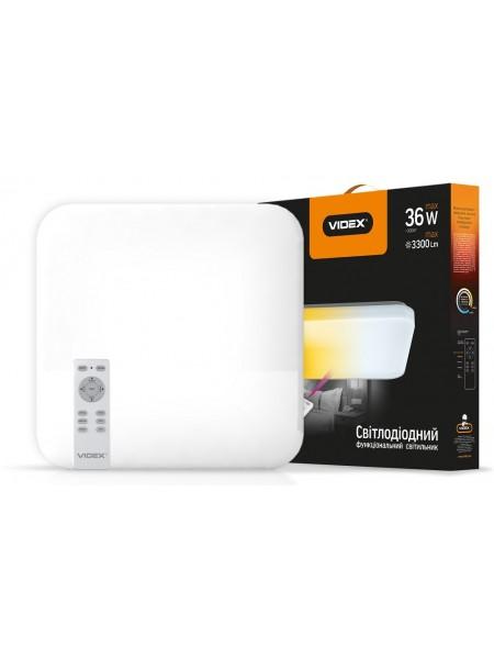 LED светильник VIDEX функціональний квадратний 36W 2800-6000K 220V IP20 VL-CLSS-36 (VL-CLSS-36) SMART Светильники светодиодные - интернет - магазин Моя Лампа ™