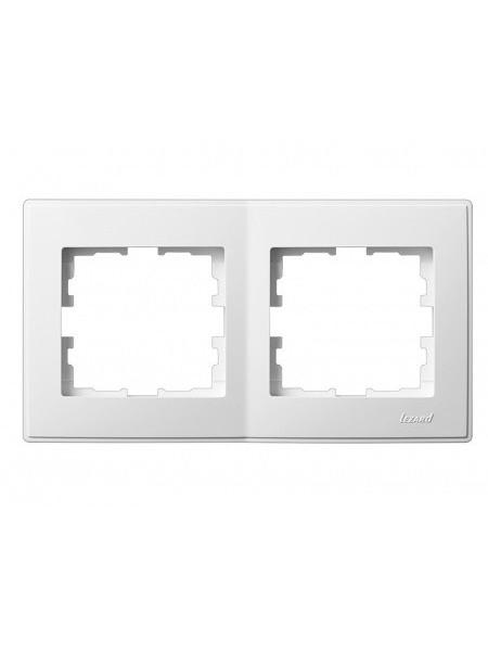 Рамка 2-ая горизонтальная б/вст LEZARD LESYA 705-0202-147 белый с белой вставкой (705-0202-147) Розетки и выключатели - интернет - магазин Моя Лампа ™