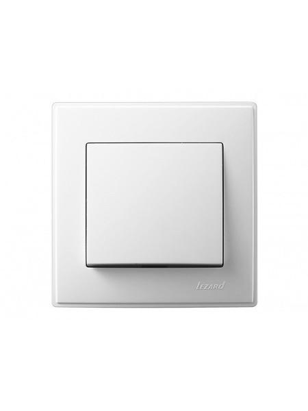 Вимикач LEZARD LESYA 705-0202-100 білий з білою вставкою (705-0202-100) Розетки і вимикачі - інтернет - магазині Моя Лампа ™