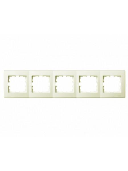 Рамка 5-а горизонтальна б/вст LEZARD LESYA 705-0303-150 кремовий з кремовою вставкою (705-0303-150) Розетки і вимикачі - інтернет - магазині Моя Лампа ™