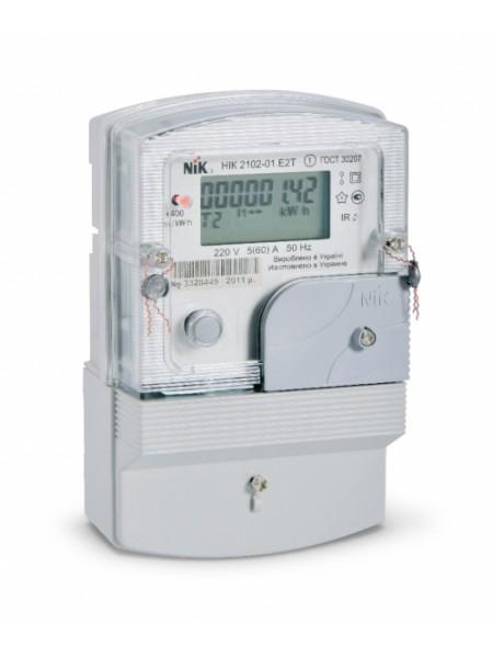 Лічильник електроенергії НІК 2102-01.Е2Т (5-60А) 220В однофазний багатотарифний - (2102-01.Е2Т) (2102-01.Е2Т) Лічильники електричної енергії - інтернет - магазині Моя Лампа ™