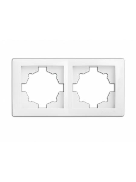 рамка WEGA 9302 2-секційна біла - (10040367) (10040367) Товари зняті з виробництва - інтернет - магазині Моя Лампа ™